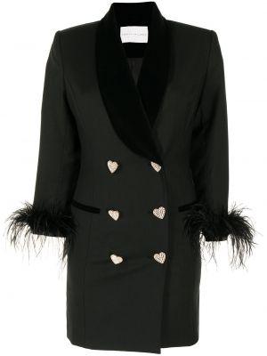 Платье с перьями - черное Rebecca Vallance