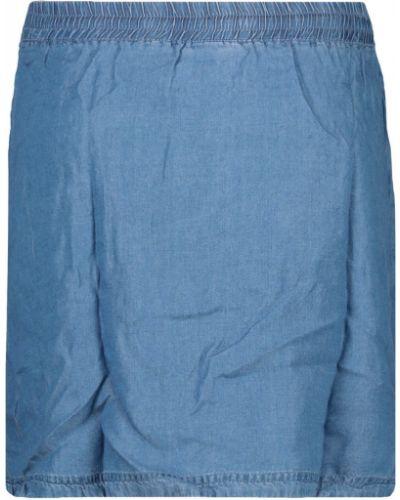 Ciepła niebieska spódnica jeansowa sznurowana Loap