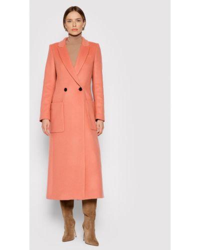 Różowy płaszcz wełniany Twinset