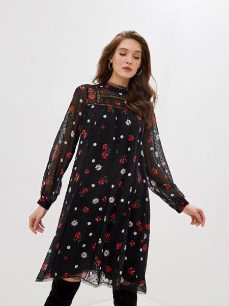 Вечернее платье осеннее черное Vera Moni