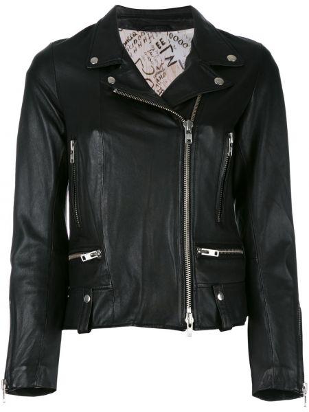 Черная кожаная куртка байкерская S.w.o.r.d 6.6.44