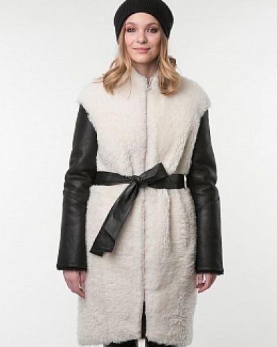 Пальто из овчины - белое каляев