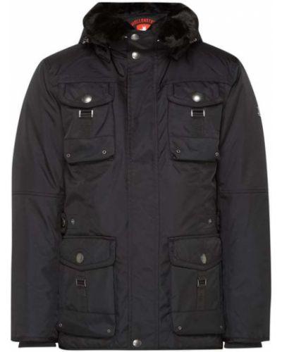 Czarny kurtka z kapturem ze stójką Wellensteyn