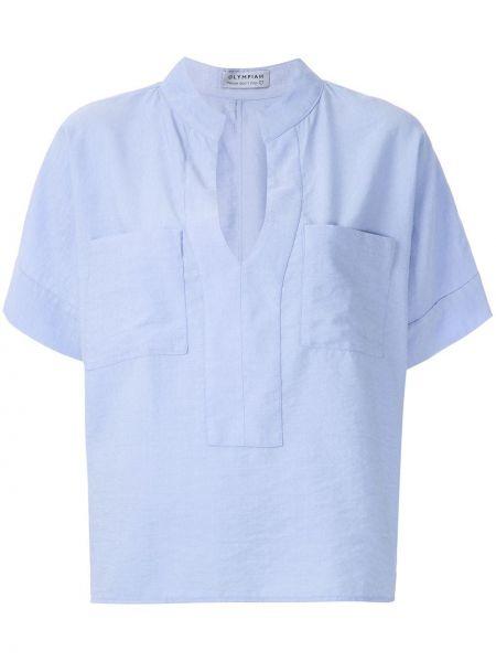 Блузка летучая мышь - синяя Olympiah