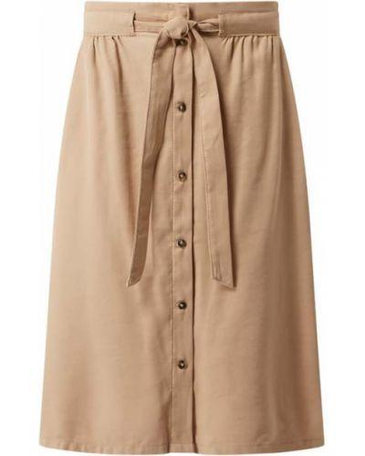 Beżowa spódnica rozkloszowana z paskiem Tom Tailor