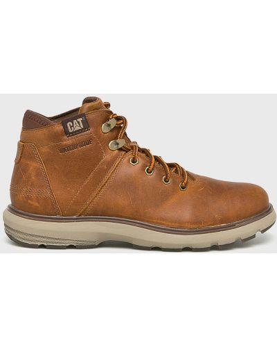 Кожаные ботинки высокие коричневый Caterpillar