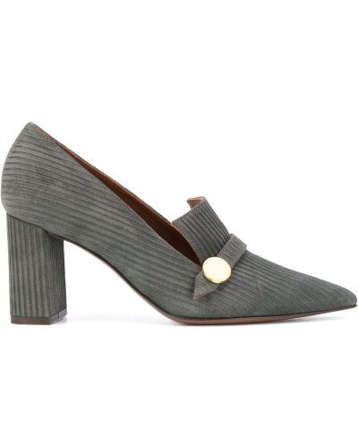 Зеленые кожаные туфли-лодочки на каблуке L'autre Chose