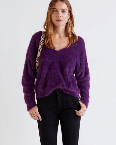 Фиолетовый пуловер 2018 Mango