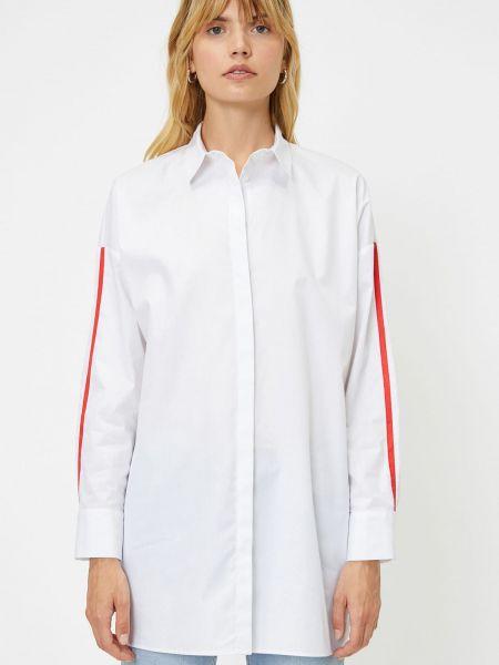 Biała tunika bawełniana z długimi rękawami Koton
