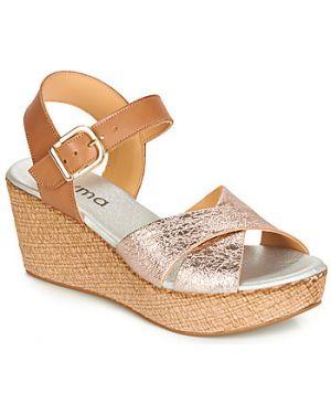 Brązowe sandały Myma