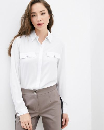 Блузка с длинными рукавами - белая Sa.l.ko