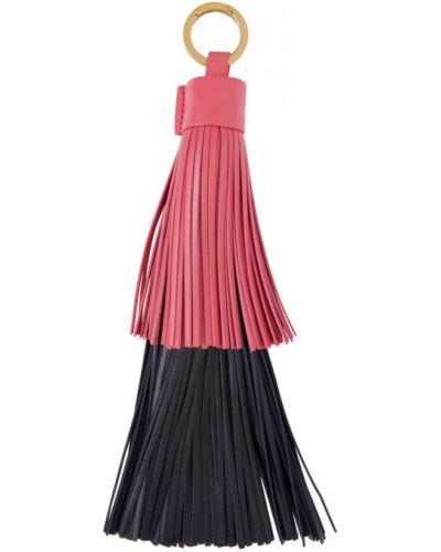 Розовый брелок с бахромой Bottega Veneta