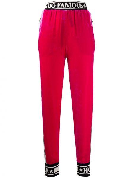 Спортивные брюки розовый велюровые Dolce & Gabbana