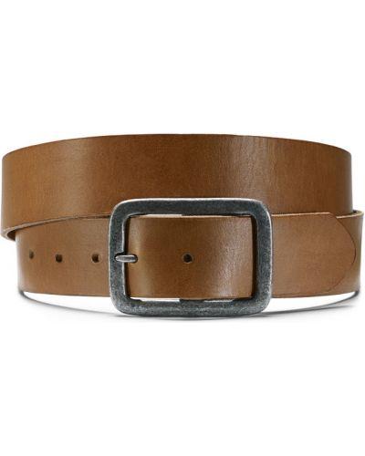 Ремень коричневый металлический Ecco