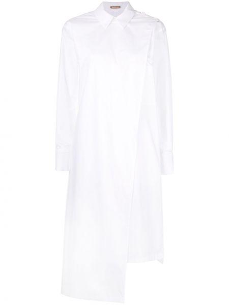 С рукавами белое платье макси с запахом Nehera