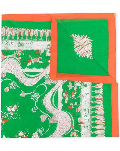 Biały pareo bawełniany w kwiaty Emilio Pucci