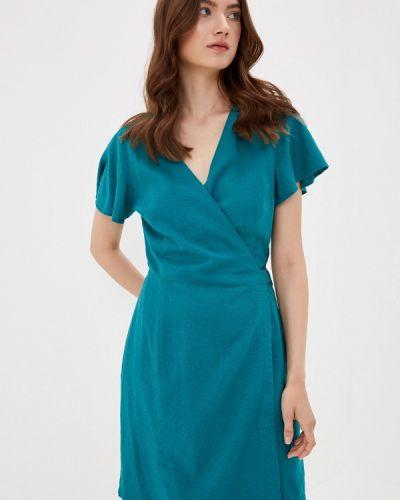 Однобортное бирюзовое платье Q/s Designed By