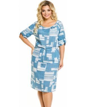 Летнее платье с манжетами с карманами с вырезом с рукавом реглан Novita