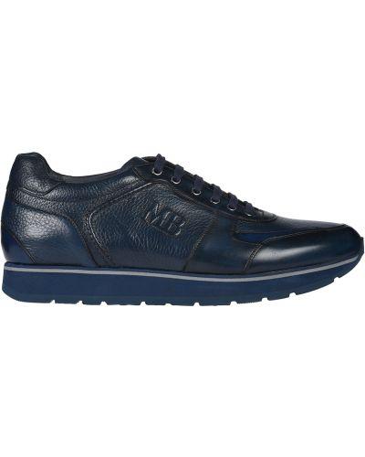 Кожаные кроссовки - синие Mario Bruni