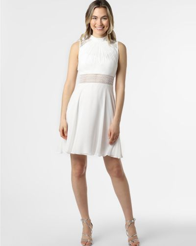 Biała sukienka wieczorowa koronkowa V.m.