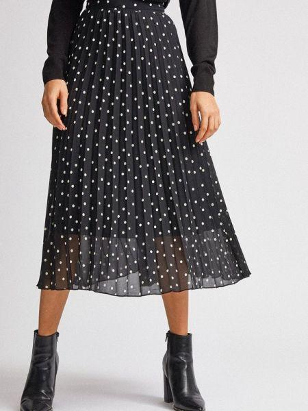 Плиссированная юбка черная весенняя Dorothy Perkins