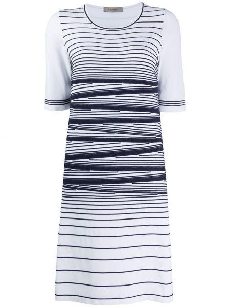 С рукавами белое платье мини с вырезом D.exterior