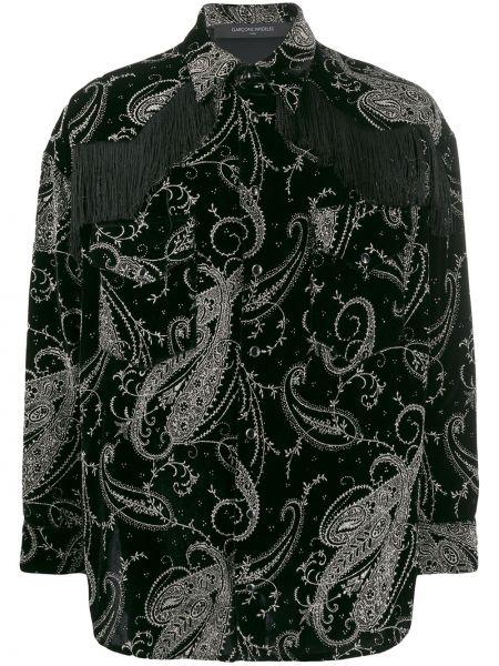Czarna koszula bawełniana z długimi rękawami Garçons Infideles