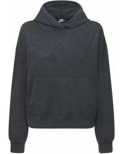 Худи с карманами - черное Nike