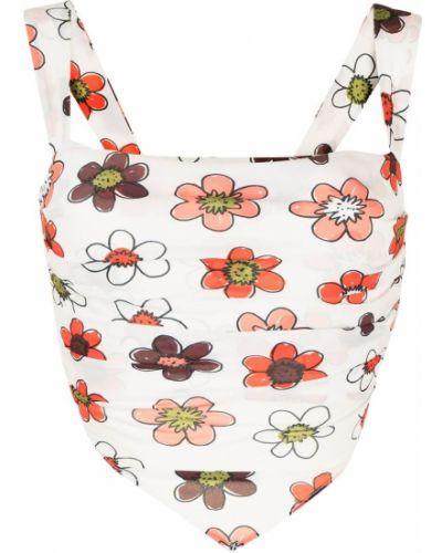 Biały szalik w kwiaty Miaou