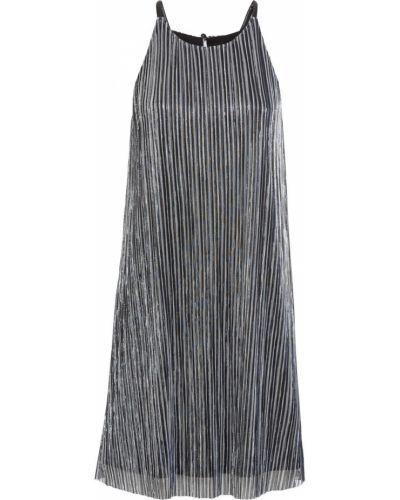 Серебряное вечернее платье на бретелях с люрексом Bonprix