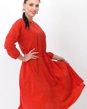 Платье с карманами - красное Taiga
