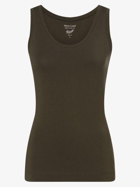 Zielona T-shirt basic Marie Lund