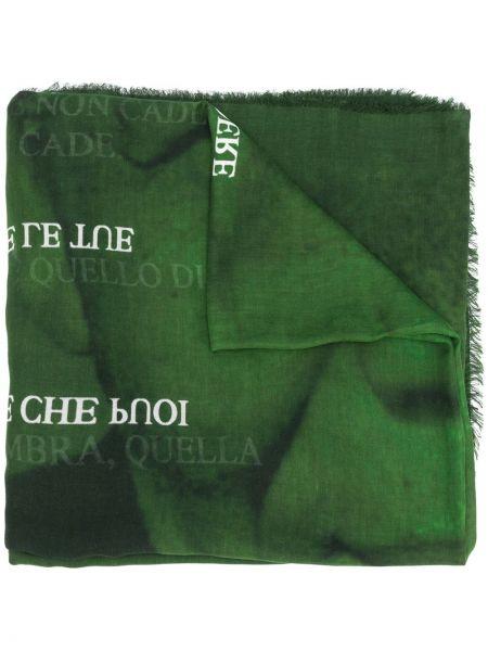Kaszmir zielony szalik przycięte Faliero Sarti