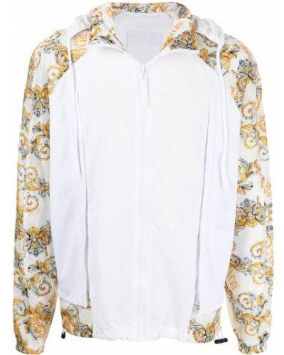 Kurtka jeansowa z printem - biała Versace Jeans Couture