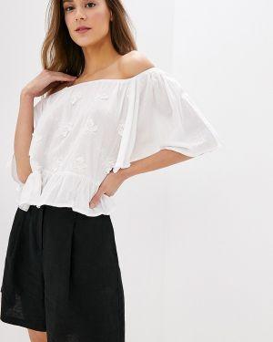 Блузка с коротким рукавом белая весенний Indiano Natural
