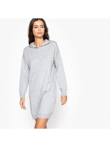 Платье мини с длинными рукавами прямое La Redoute Collections