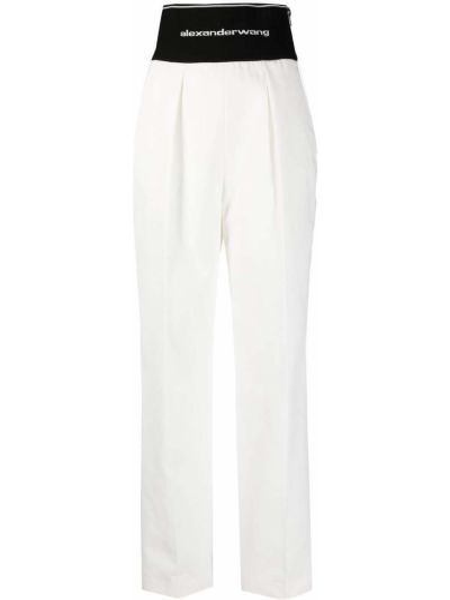 Białe spodnie bawełniane Alexander Wang