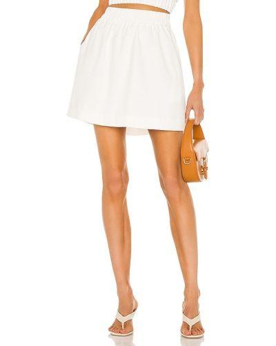Белая юбка мини с карманами винтажная Line & Dot