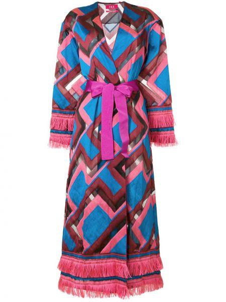 Шелковое розовое пальто с капюшоном F.r.s For Restless Sleepers