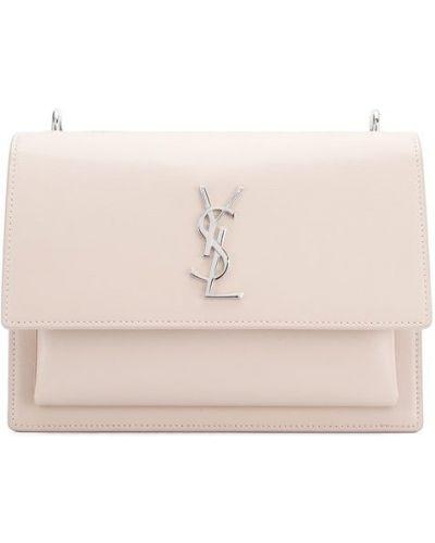 Кожаная сумка на цепочке розовый Saint Laurent