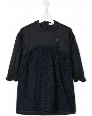 Темно-синее платье с рукавами Fith