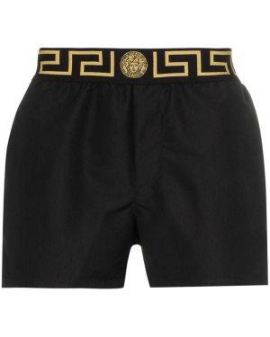 Черные шорты Versace