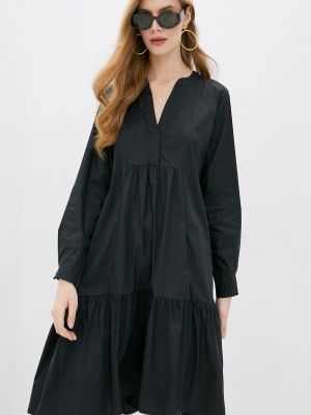 Повседневное платье синее черное Iblues