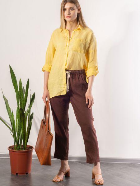 Рубашка casual - желтая Mariolli