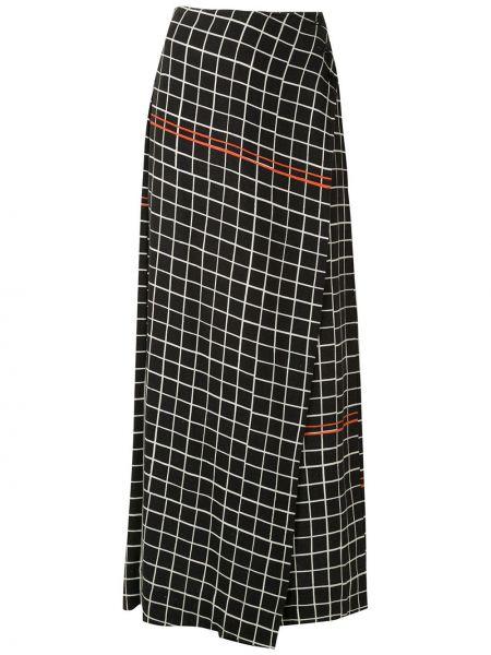 Черные брюки с воротником свободного кроя на пуговицах Osklen