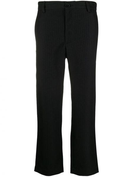 Czarne spodnie z paskiem Goodfight
