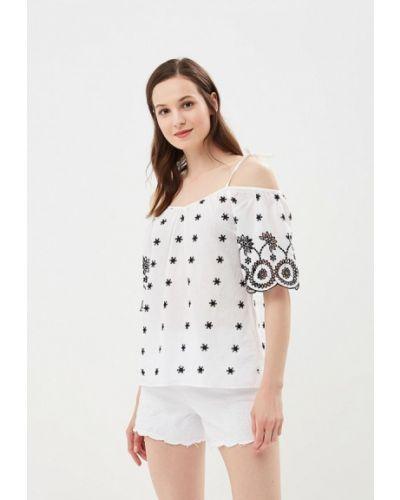 Блузка с открытыми плечами белая Dorothy Perkins