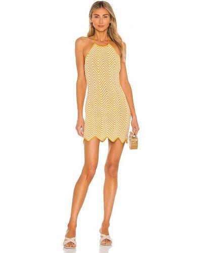 Платье из вискозы - желтое Ronny Kobo