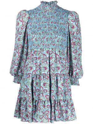 Платье мини в цветочный принт - синее Likely