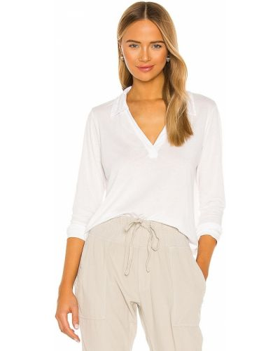 Трикотажный пуловер - белый La Made